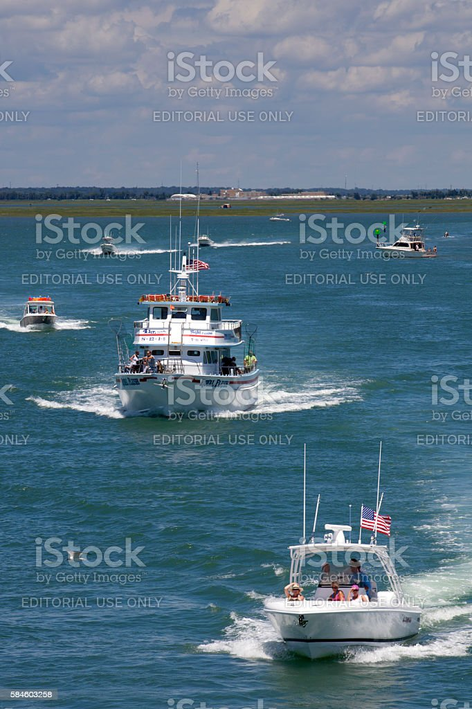 'Royal Flush' Charter Fishing Boat in Wildwood, New Jersey stock photo