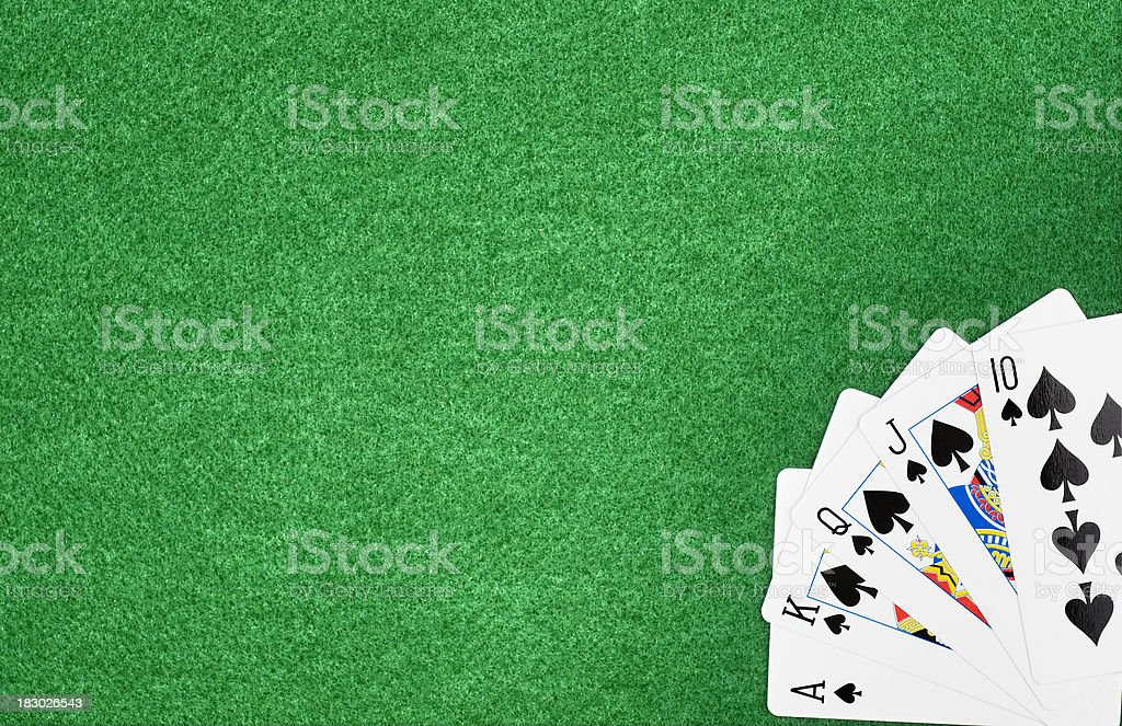 Royal Flush royalty-free stock photo