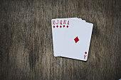 Royal Flush poker hands