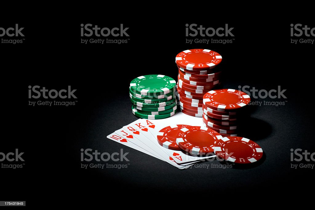 A Royal Flush provides a winning poker hand royalty-free stock photo