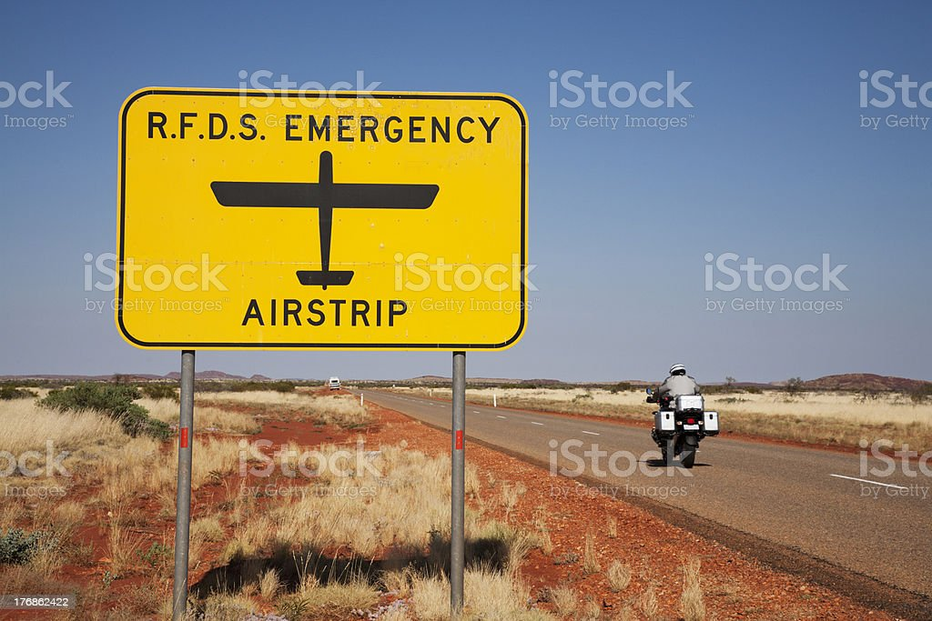 Royal Flying Doctor Sign Outback Australia royalty-free stock photo