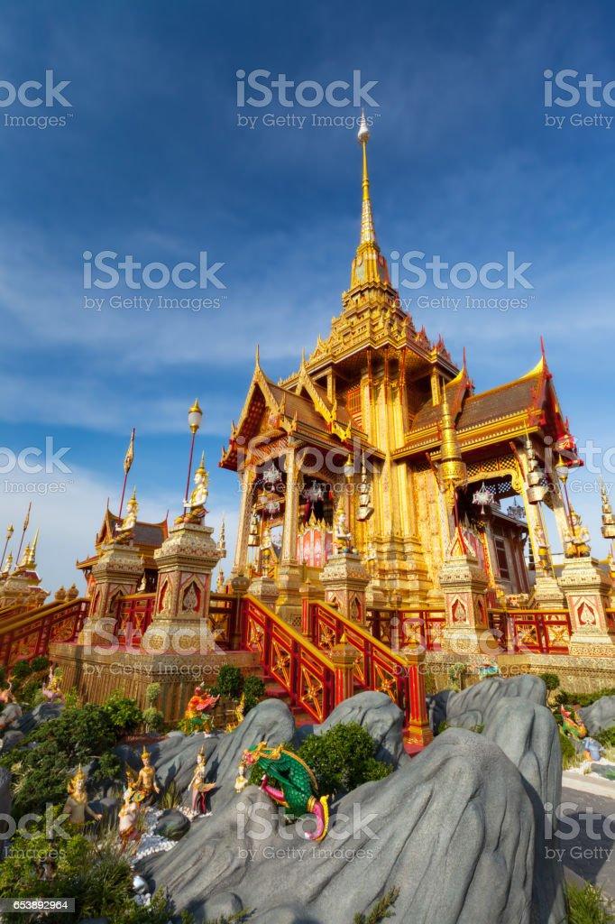 Royal Funerary Pyre (Bangkok) stock photo