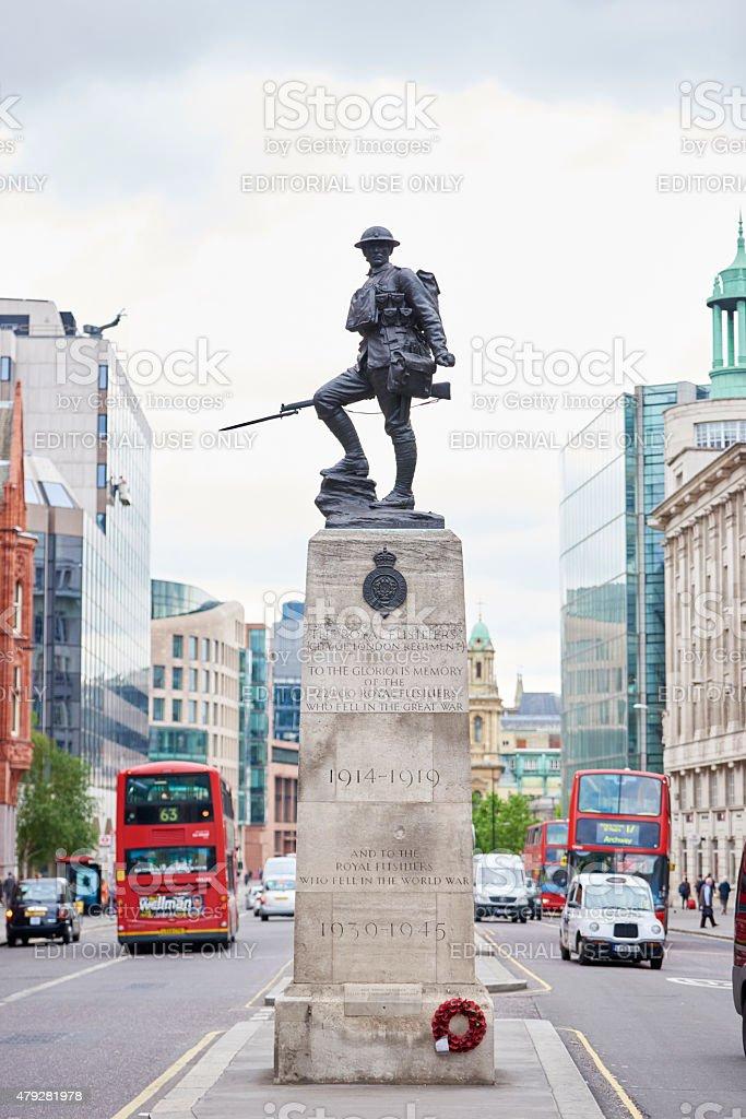 Royal Fusiliers war memorial stock photo