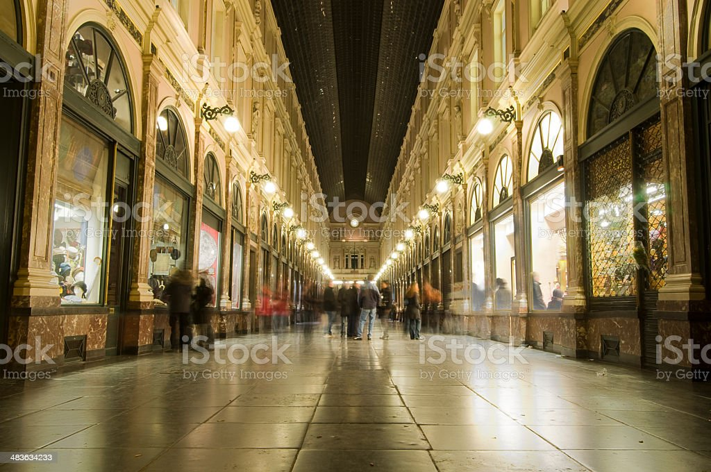 Royal Galleries of Saint-Hubertm, Brussels royalty-free stock photo