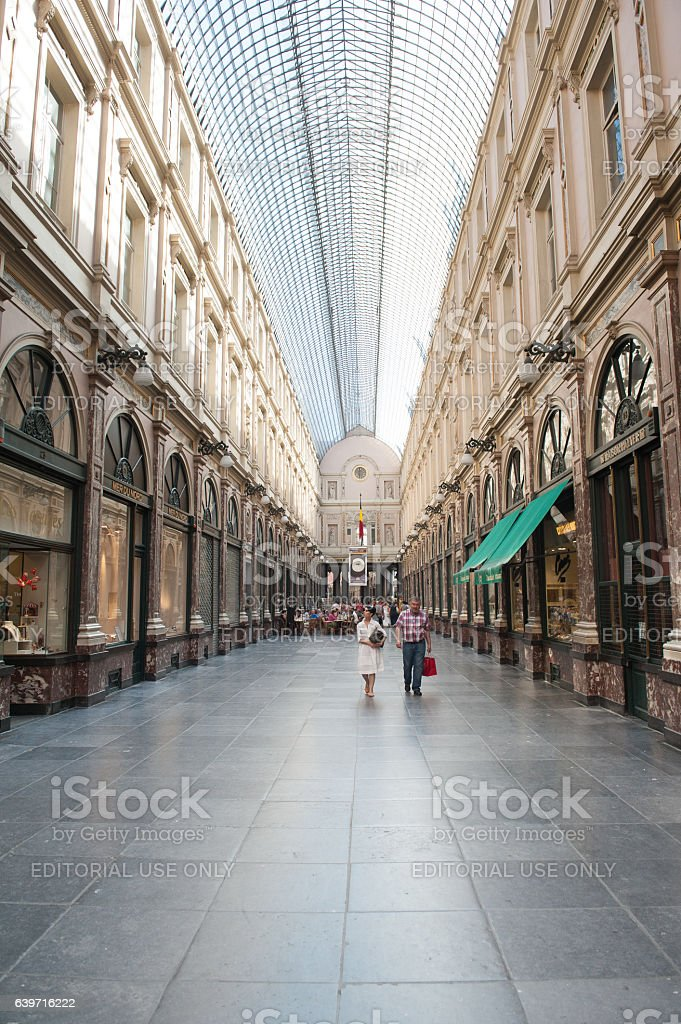 Galeries royales saint-hubert Bruxelles stock photo