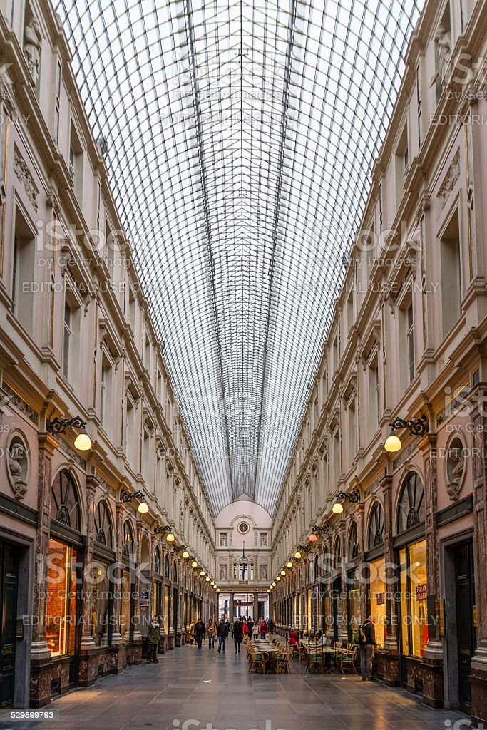 Galeries Royales Saint-Hubert stock photo
