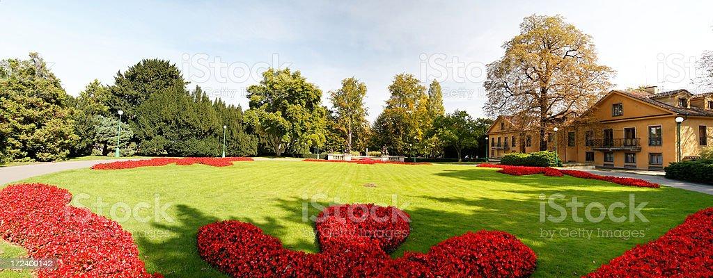 Royal gardens of the Prague Castle royalty-free stock photo
