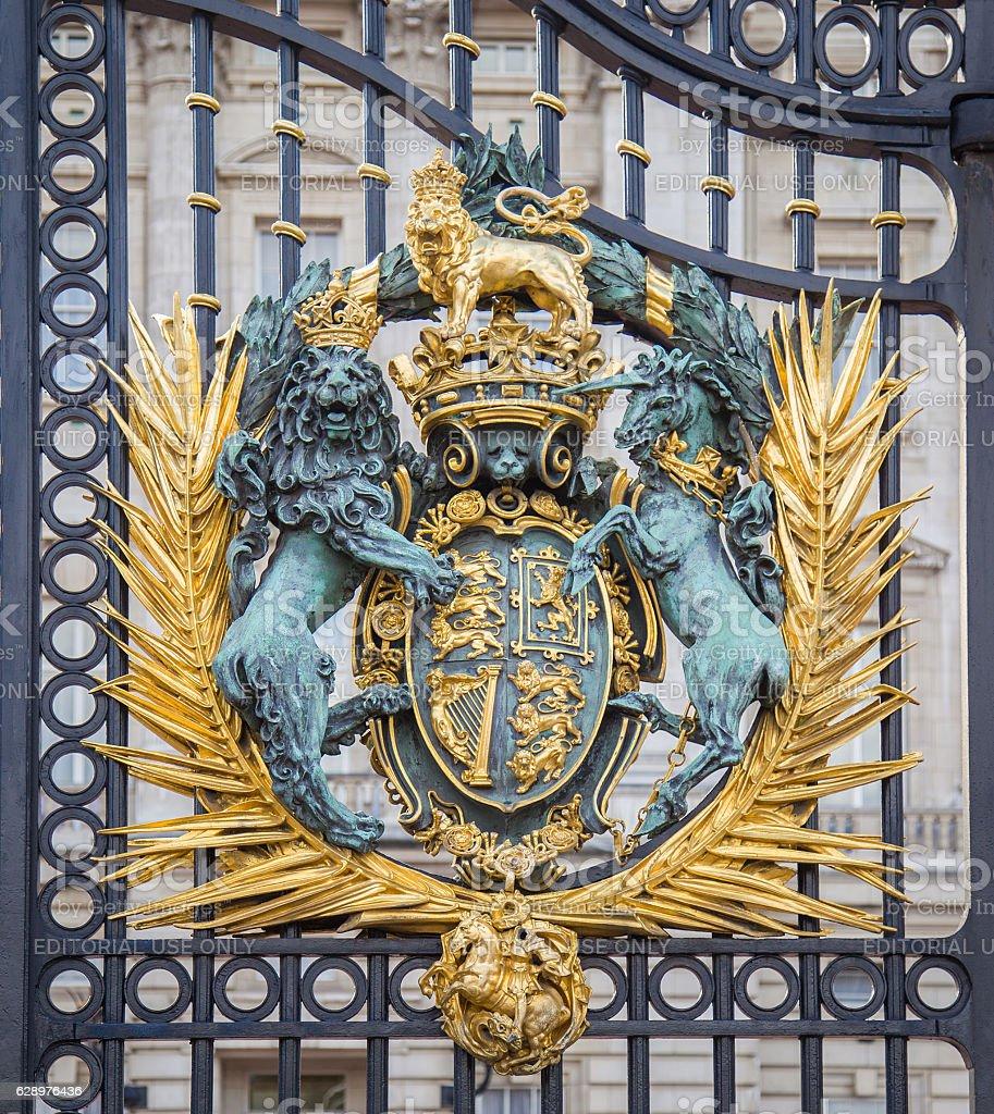 Royal gate of Buckingham Palace in London, England. stock photo