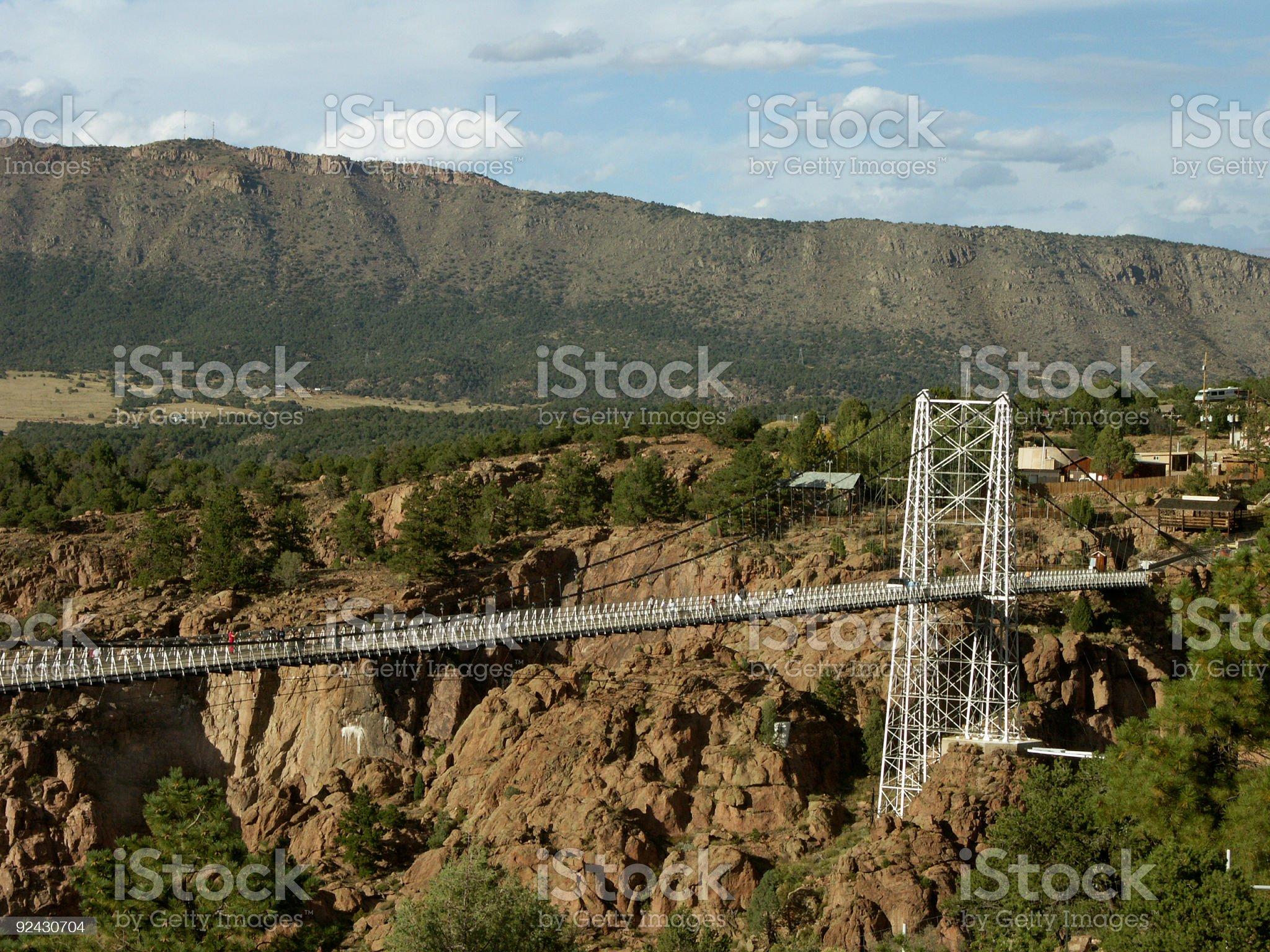 Royal Gorge Bridge. Fragment. royalty-free stock photo