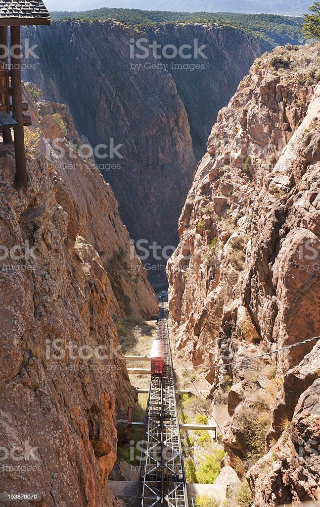 royal gorge valley stock photo