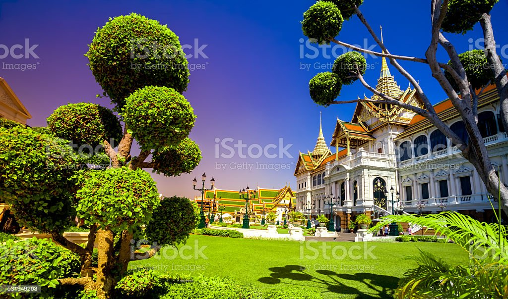Royal grand palace in Bangkok stock photo