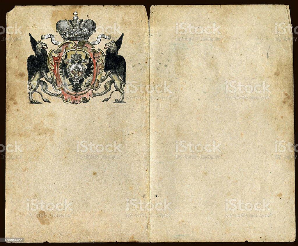 Royal Griffons Sketch Pad royalty-free stock photo