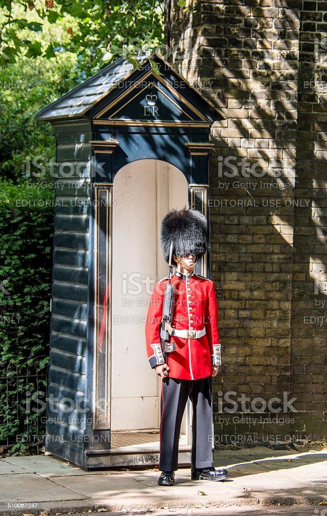 Royal Guard outside of St James Palace stock photo