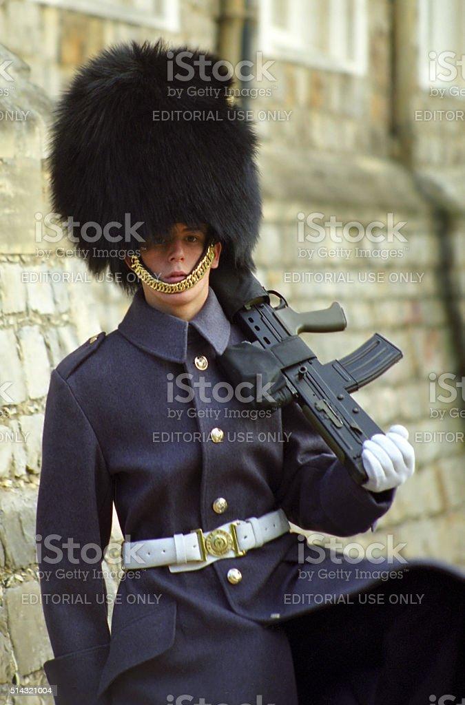 Royal guard, Windsor, England stock photo