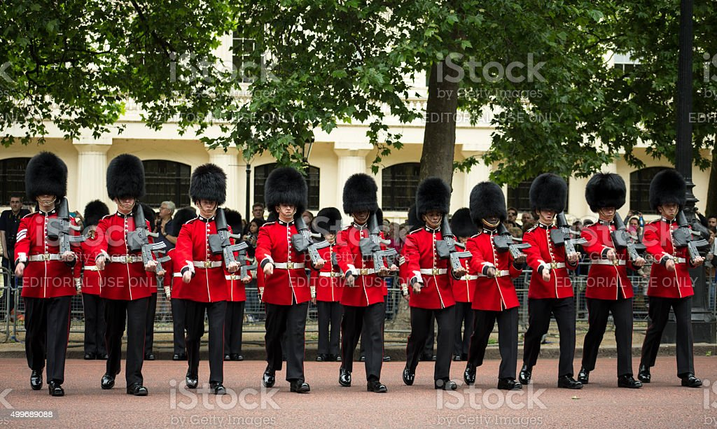Royal Guards, London stock photo