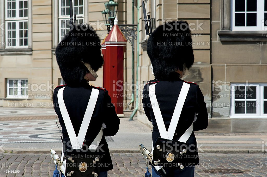 Royal Guardsmen royalty-free stock photo