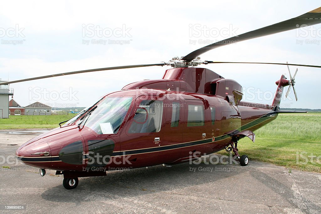 Royal Helicopter royalty-free stock photo