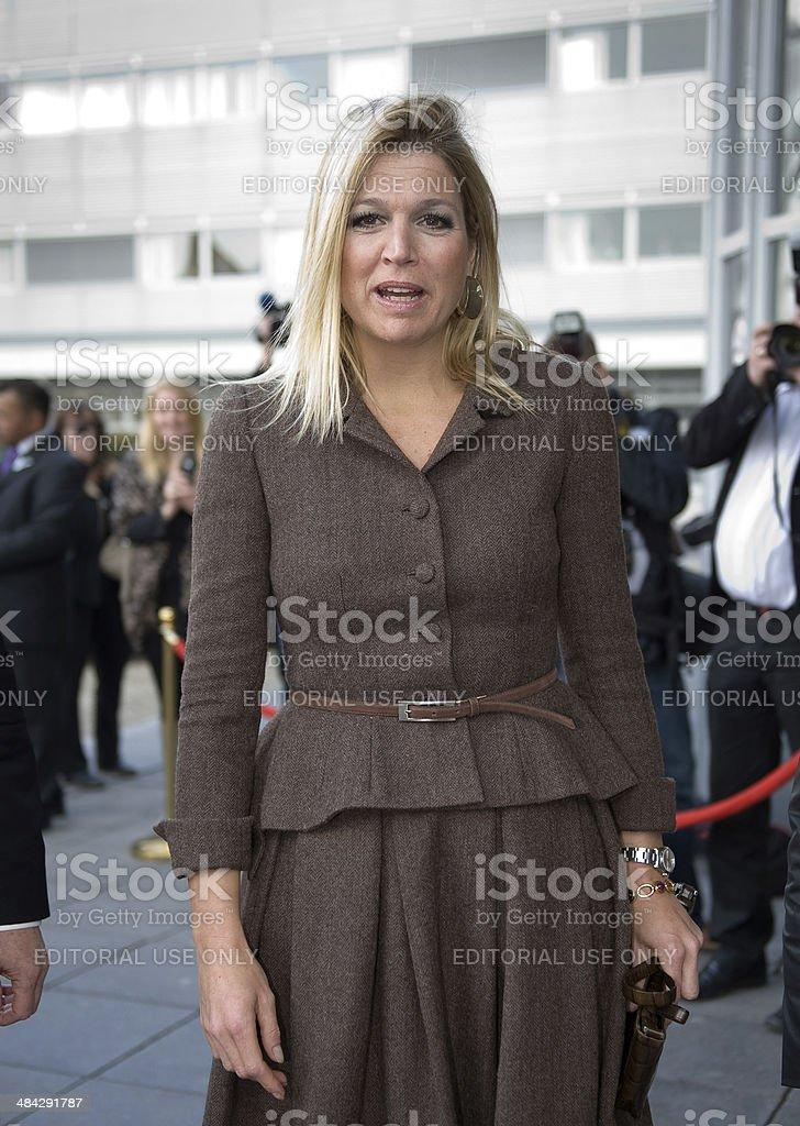 Royal Highness Princess Maxima stock photo