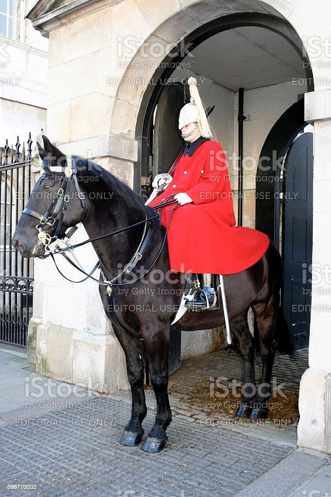 Royal Horse Guard stock photo