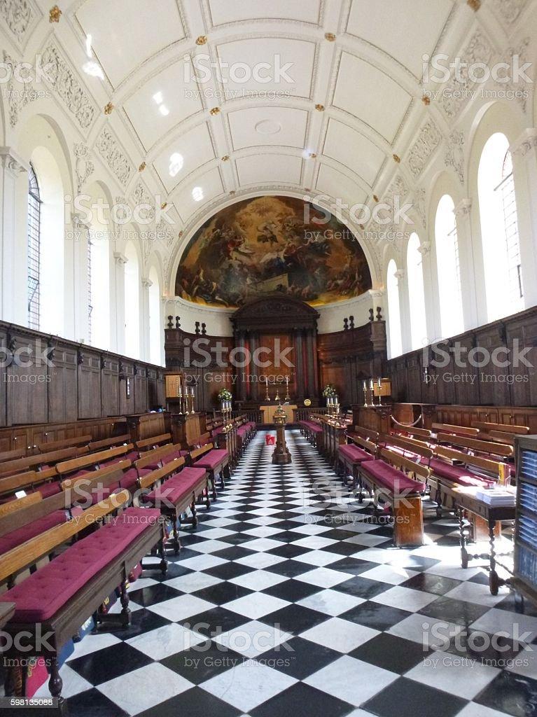 Royal Hospital Chapel, Chelsea stock photo