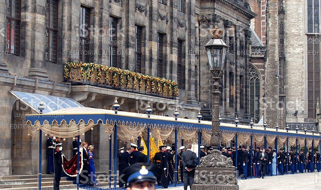 Royal inauguration in the Netherlands royalty-free stock photo