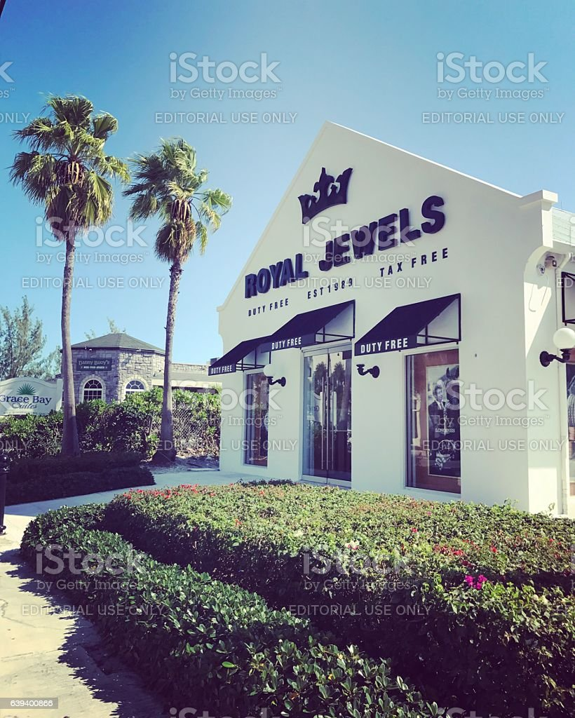Royal Jewels Store in Providenciales. Turks and Caicos. stock photo