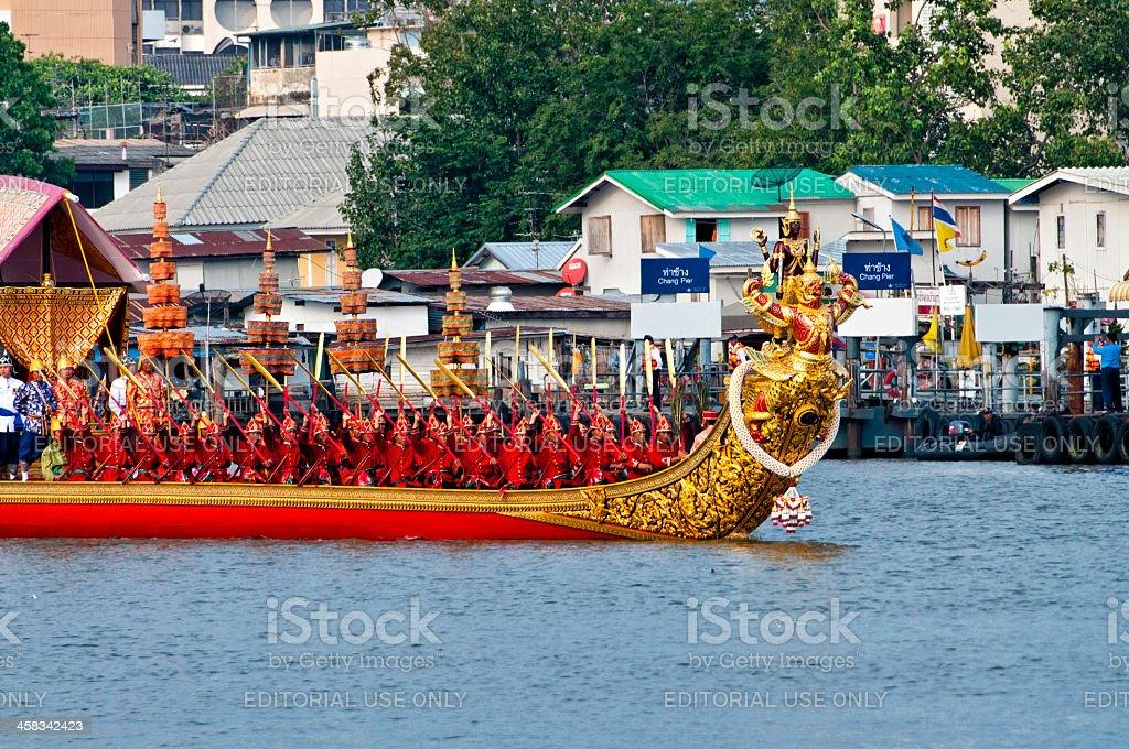 Królewska ceremonia Kathin w Chaopraya river zbiór zdjęć royalty-free