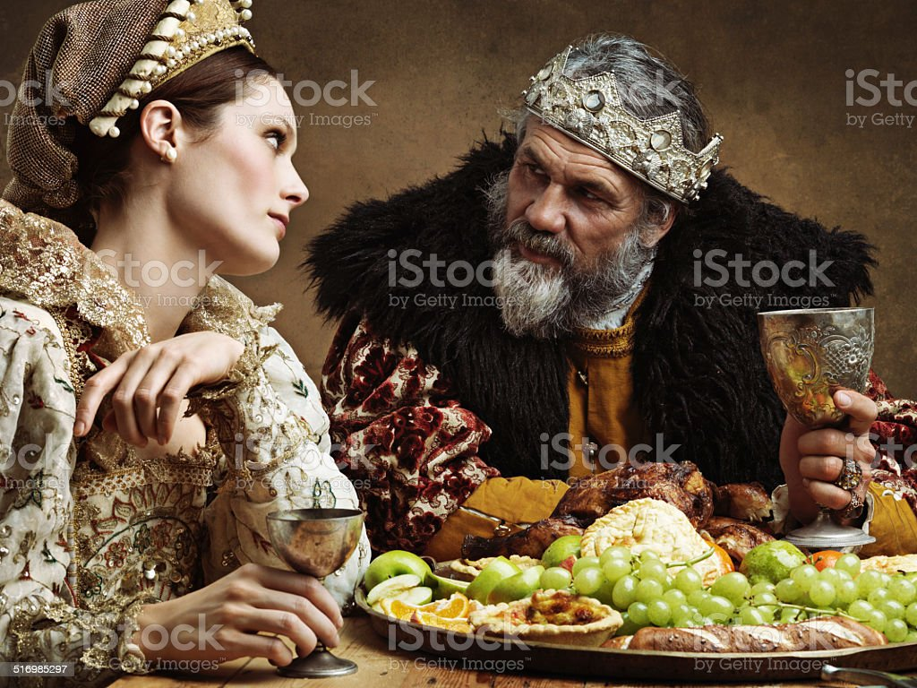Royal life can be tedious... stock photo
