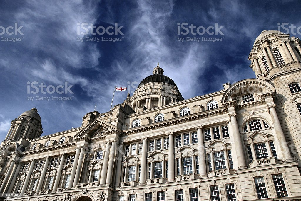 Royal Liver building at liverpool stock photo