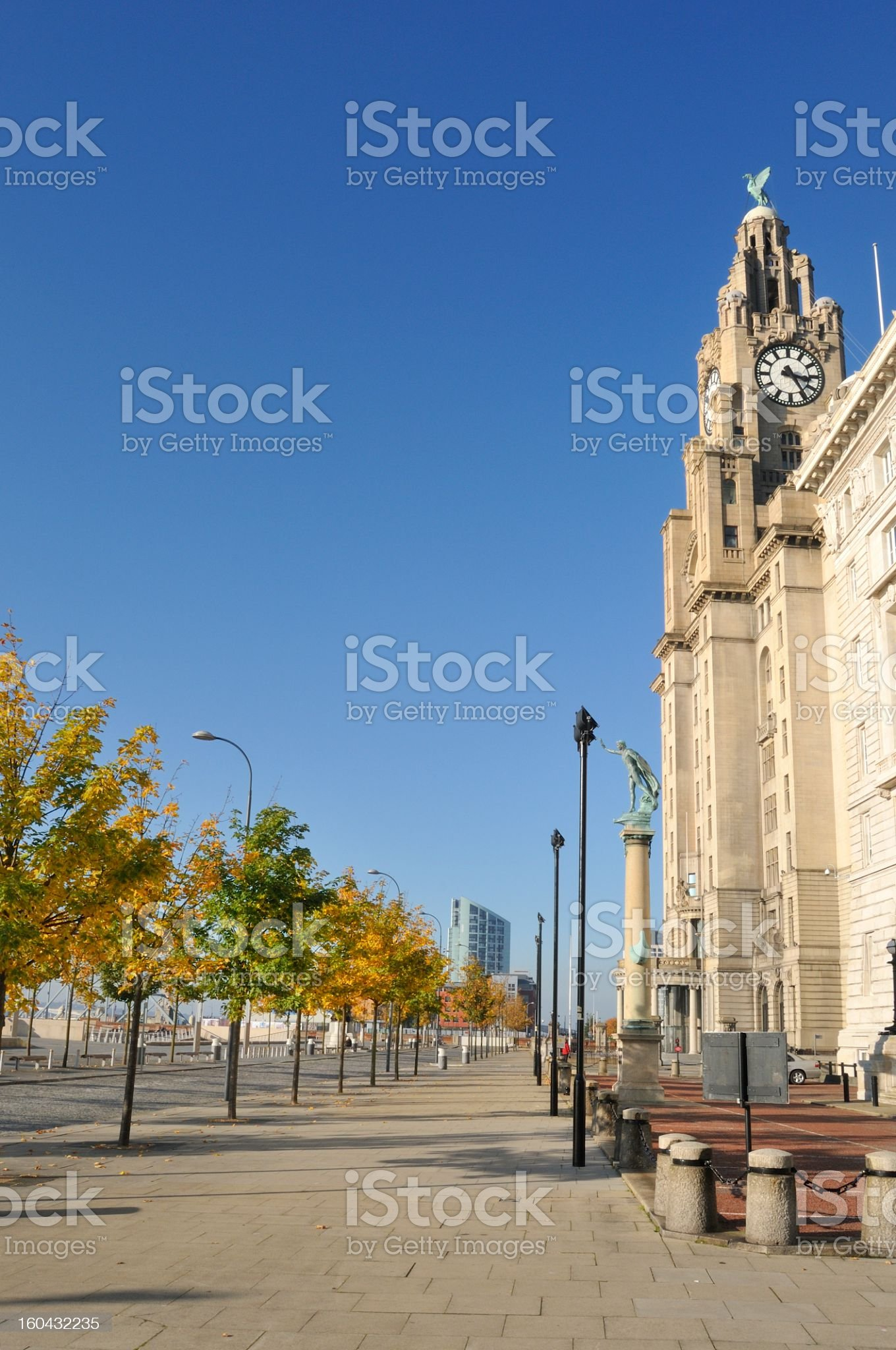 Royal Liver building  in Autumn royalty-free stock photo