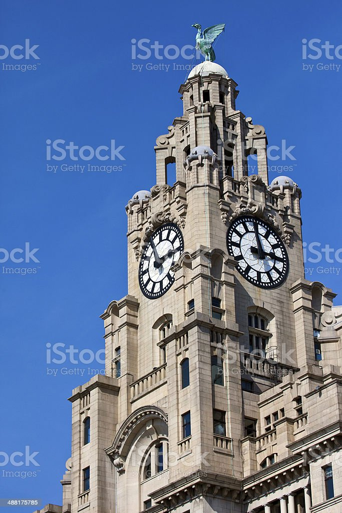 Royal Liver Building in Liverpool stock photo