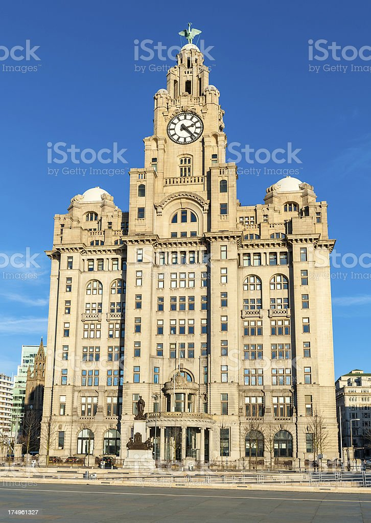 Royal Liver Building, Liverpool, England stock photo