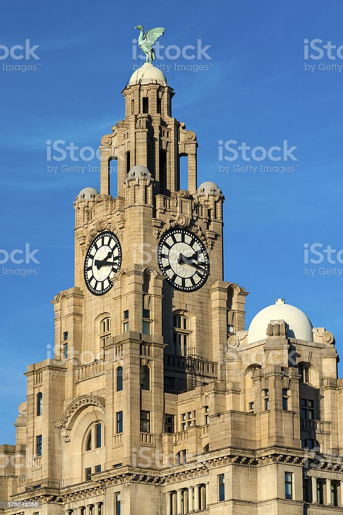 Royal Liver Building, Liverpool, England royalty-free stock photo