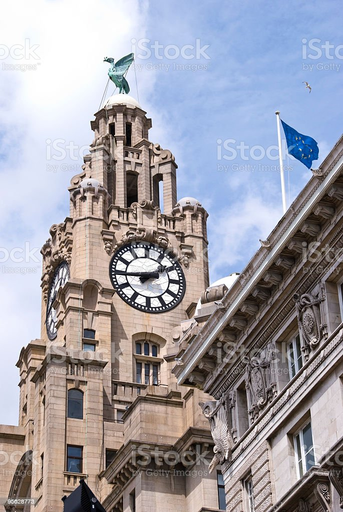Royal Liver building, Liverpool royalty-free stock photo
