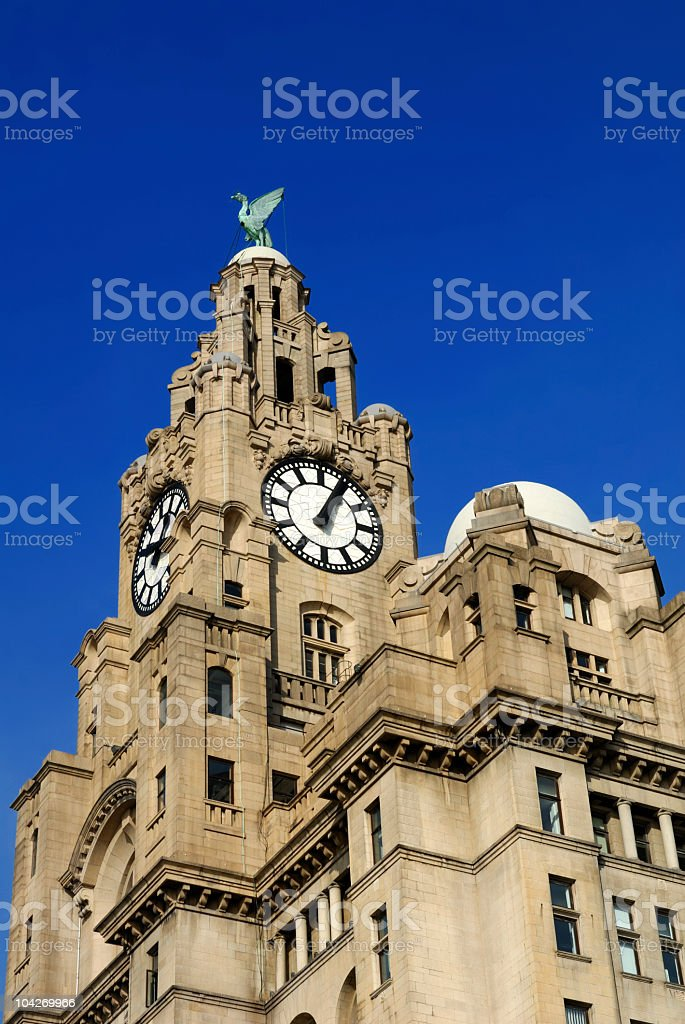 Royal Liver Building royalty-free stock photo