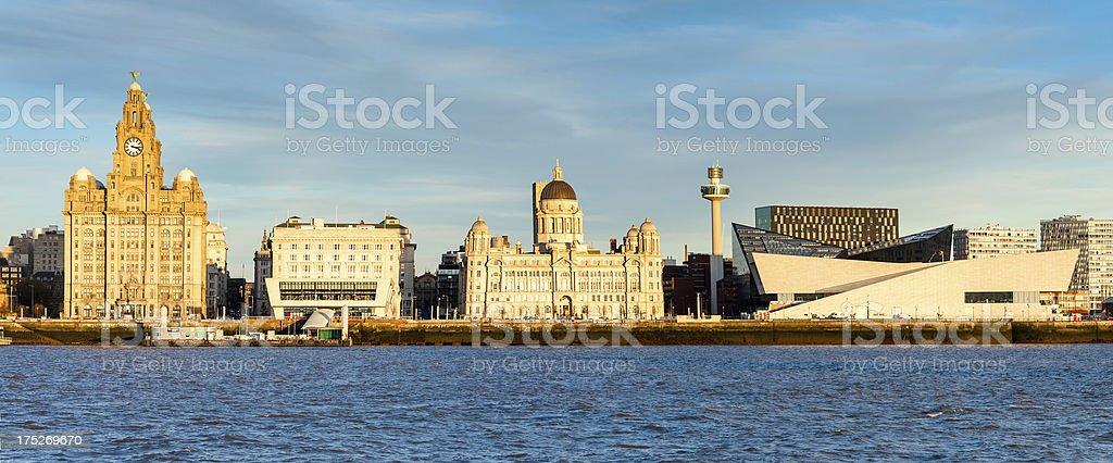 Royal Liver Building, Pierhead, Liverpool, England royalty-free stock photo