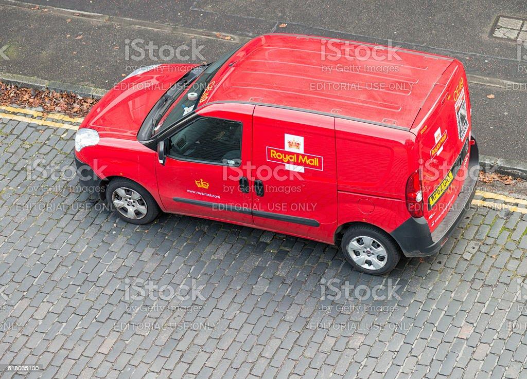 UK Royal Mail Post Van stock photo
