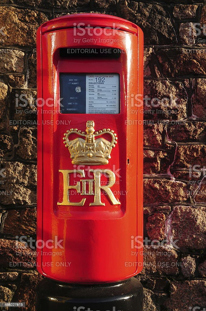 Royal mail postbox, Jersey. royalty-free stock photo