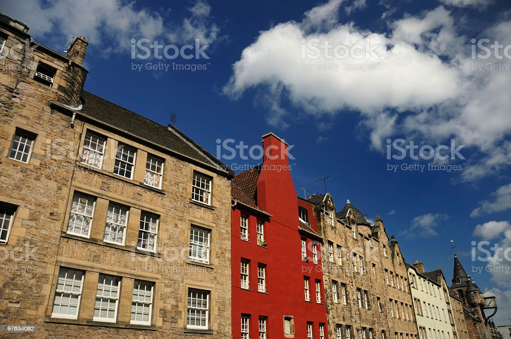 Royal Mile Architecture, Edinburgh stock photo