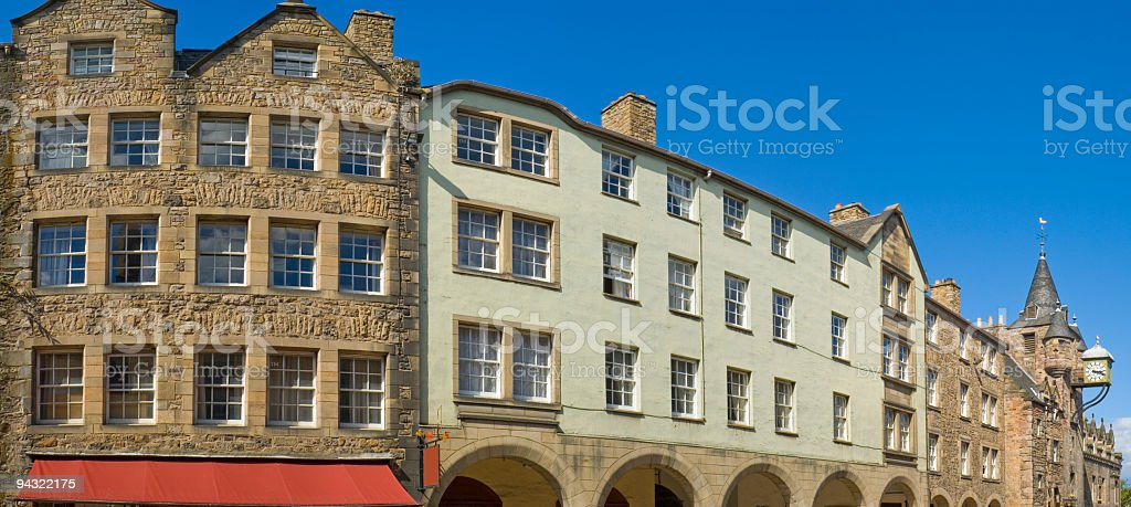 Royal Mile, Edinburgh, Scotland stock photo