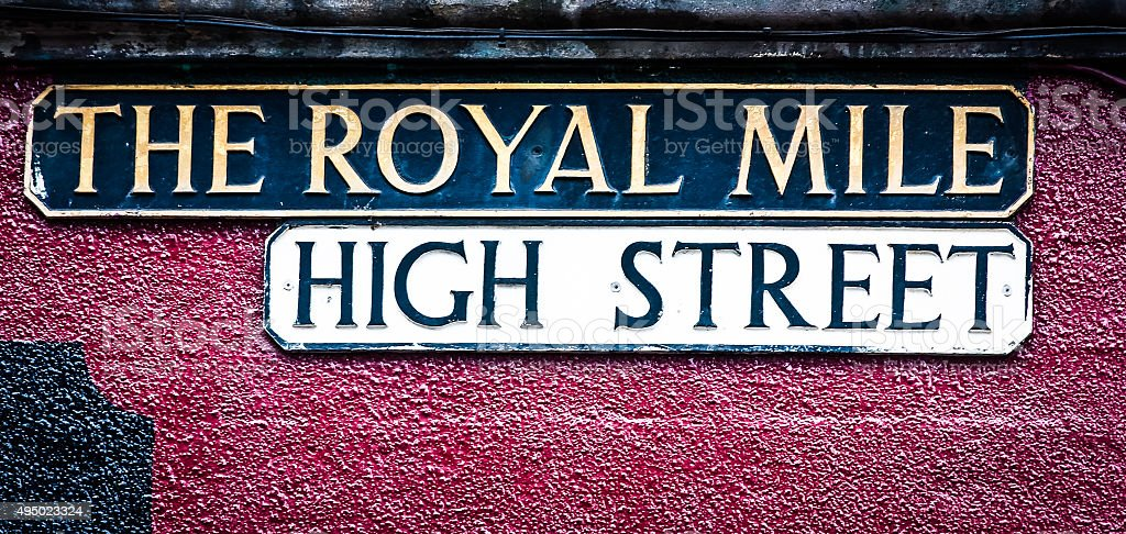 Royal Mile stock photo