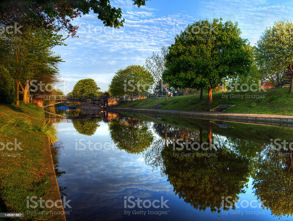 Royal military canal stock photo