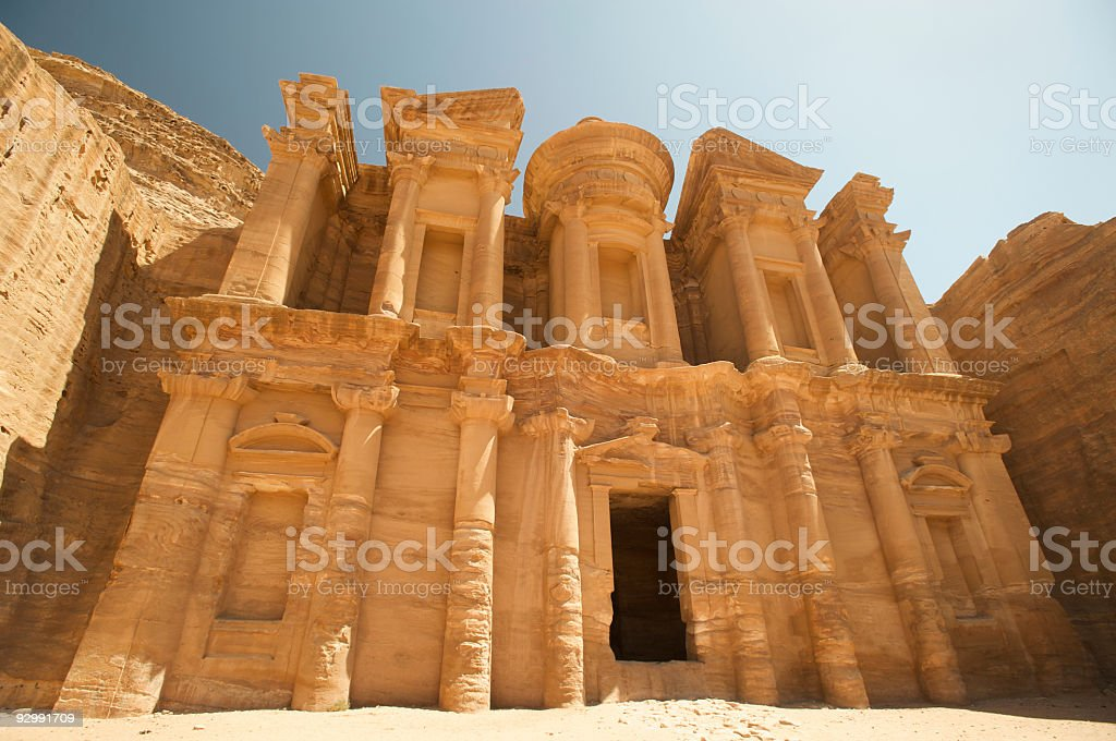 Royal Monastery in the Ancient City of Petra, Jordan royalty-free stock photo