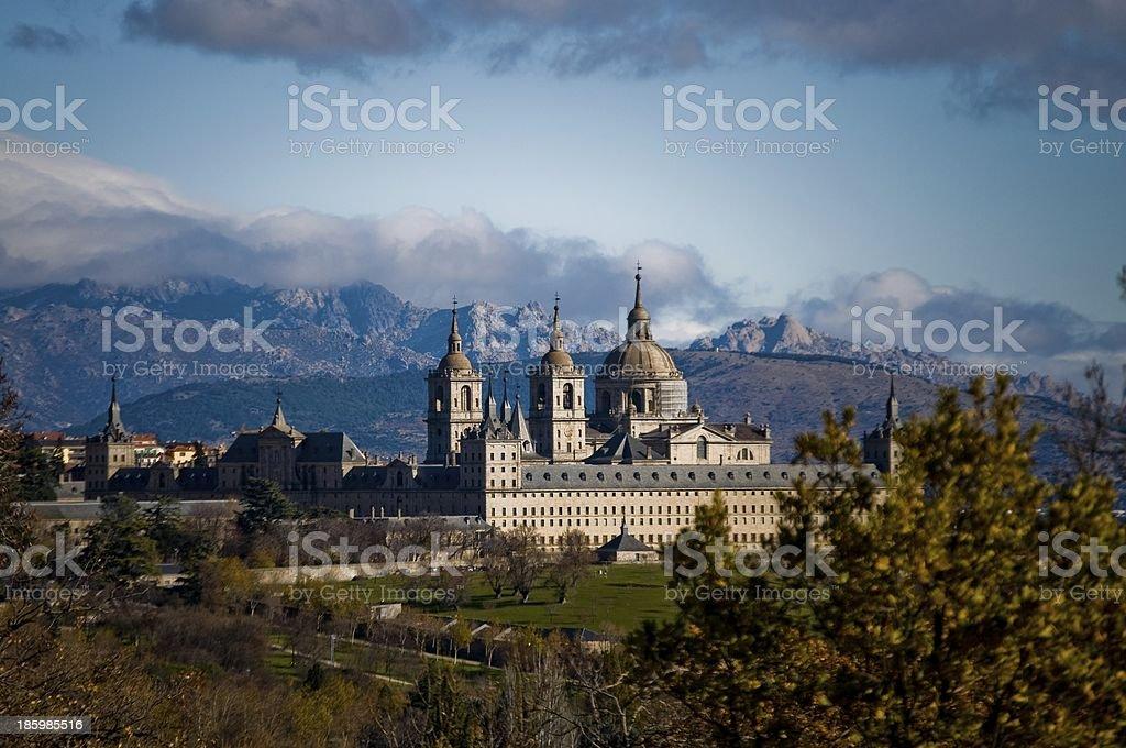 Royal Monastery of San Lorenzo de El Escorial. Madrid, Spain. stock photo