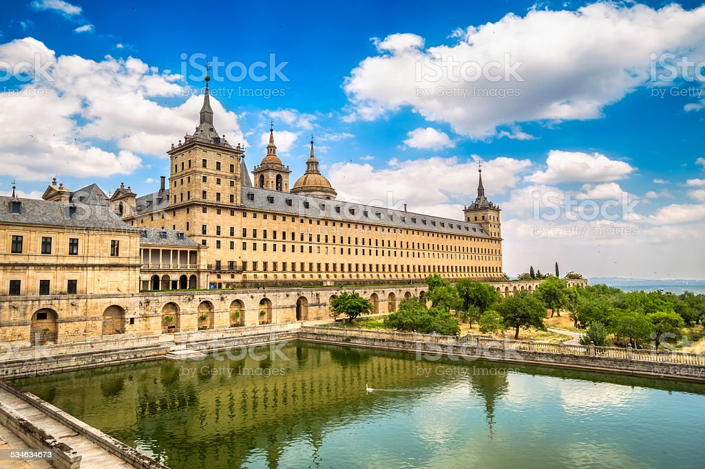 Royal Monastery of San Lorenzo de El Escorial, Madrid, Spain stock photo