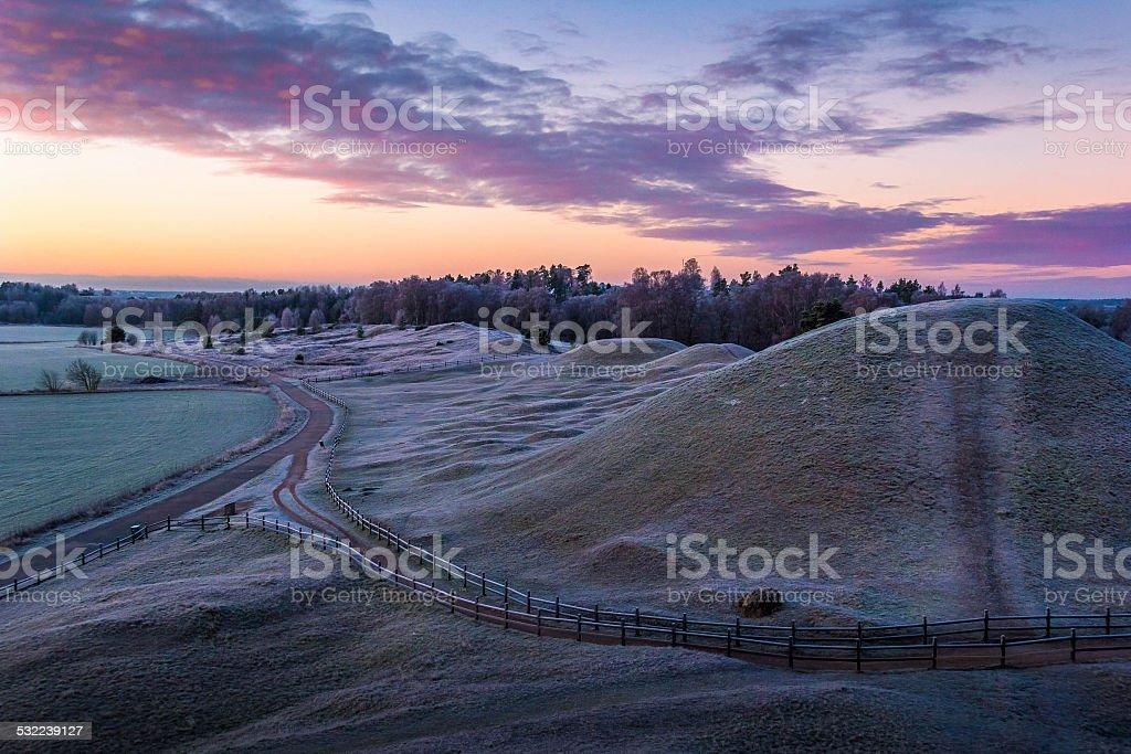 Royal mounds stock photo