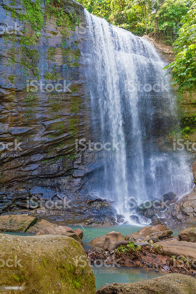Royal Mt Carmel Waterfall, Grenada royalty-free stock photo