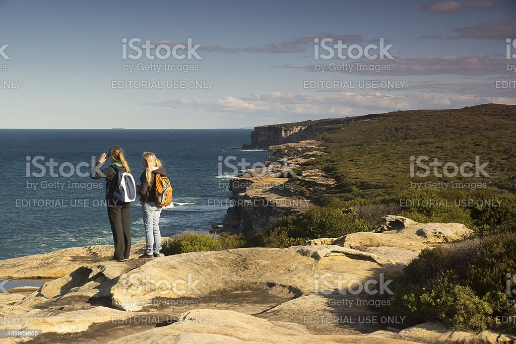 Royal National Park Coastal Walk royalty-free stock photo