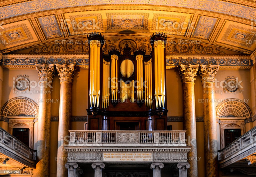Royal Naval College Chapel, London stock photo