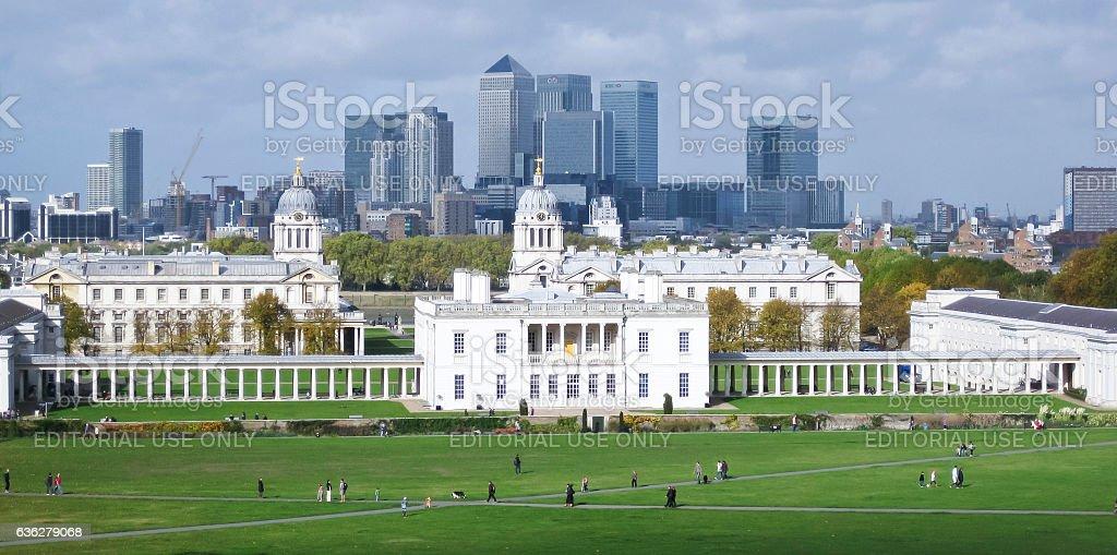 royal naval college greenwich london skyline uk royalty-free stock photo